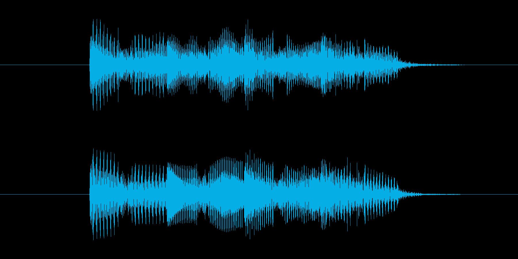 ゲームオーバー効果音 不正解 コミカルの再生済みの波形