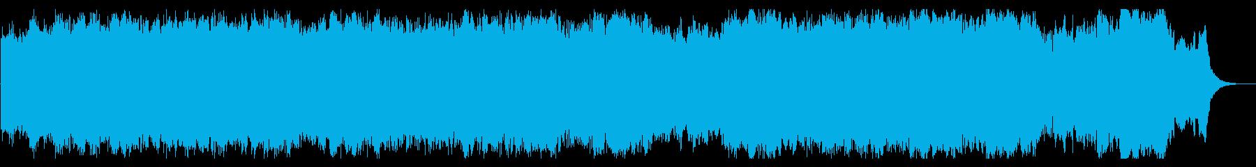 重厚感・緊迫感のあるハリウッド系BGMの再生済みの波形