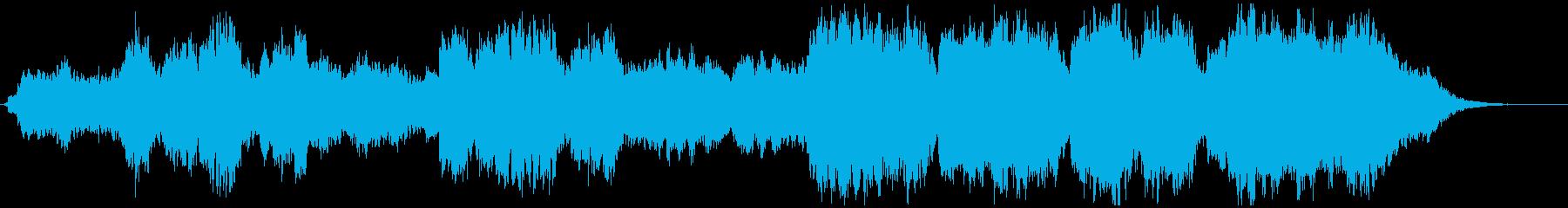 幻想的で雄大なケルトの笛の再生済みの波形
