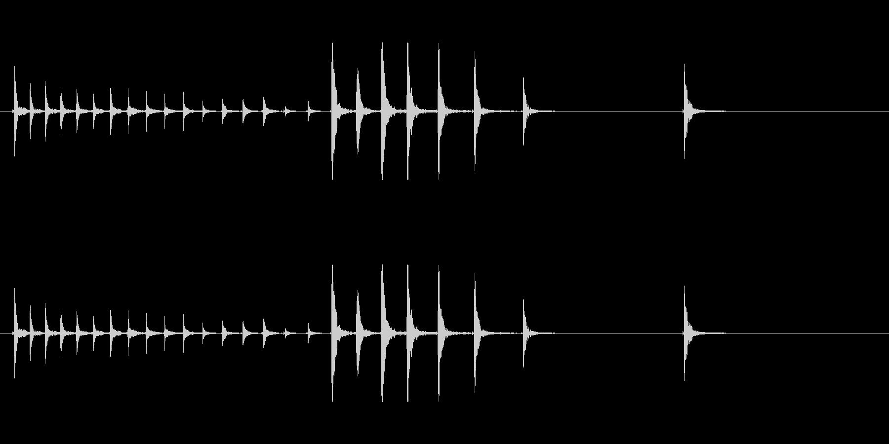 鼓4タタタタポポポポポン和風歌舞伎伝統能の未再生の波形