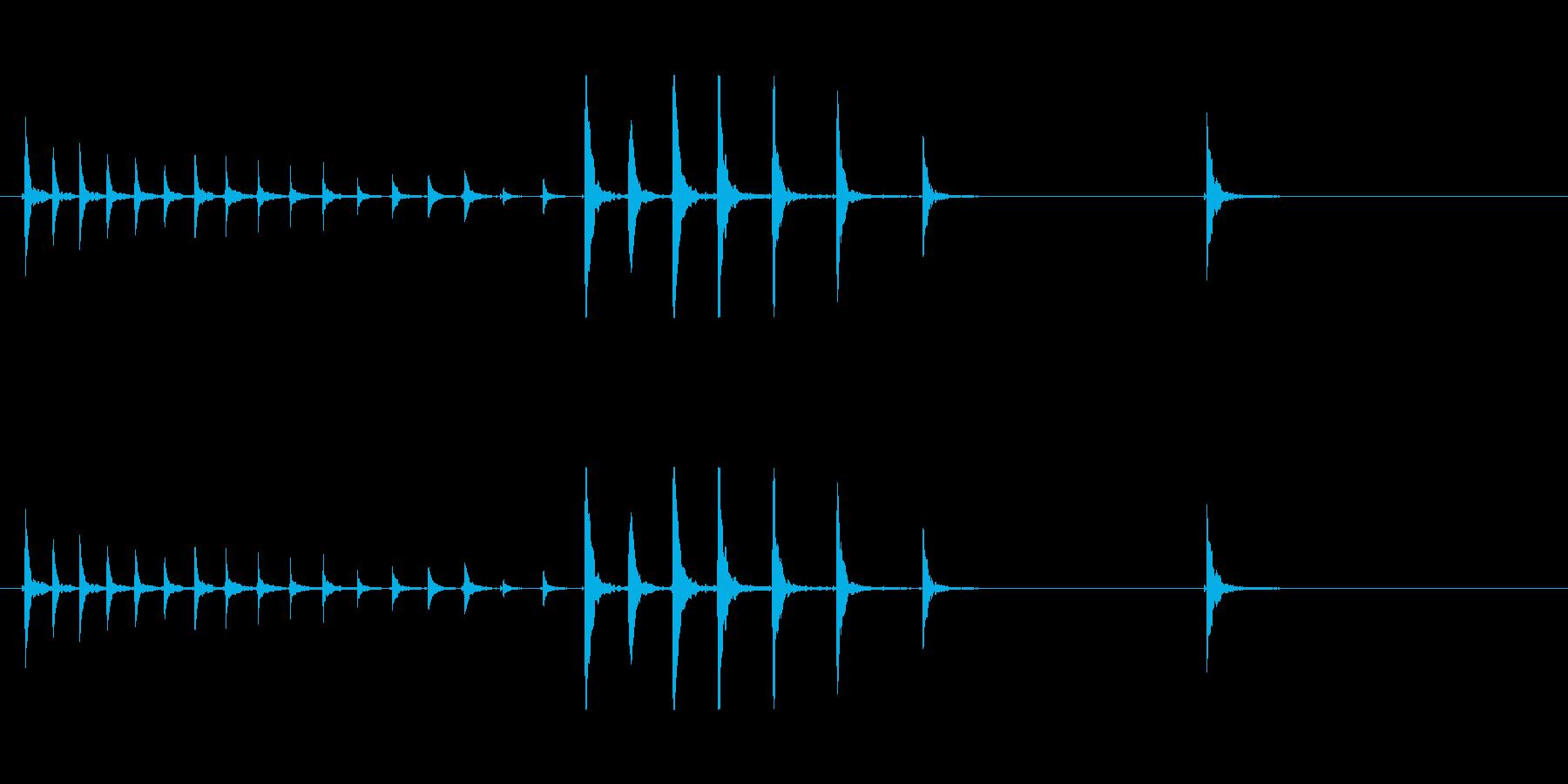鼓4タタタタポポポポポン和風歌舞伎伝統能の再生済みの波形