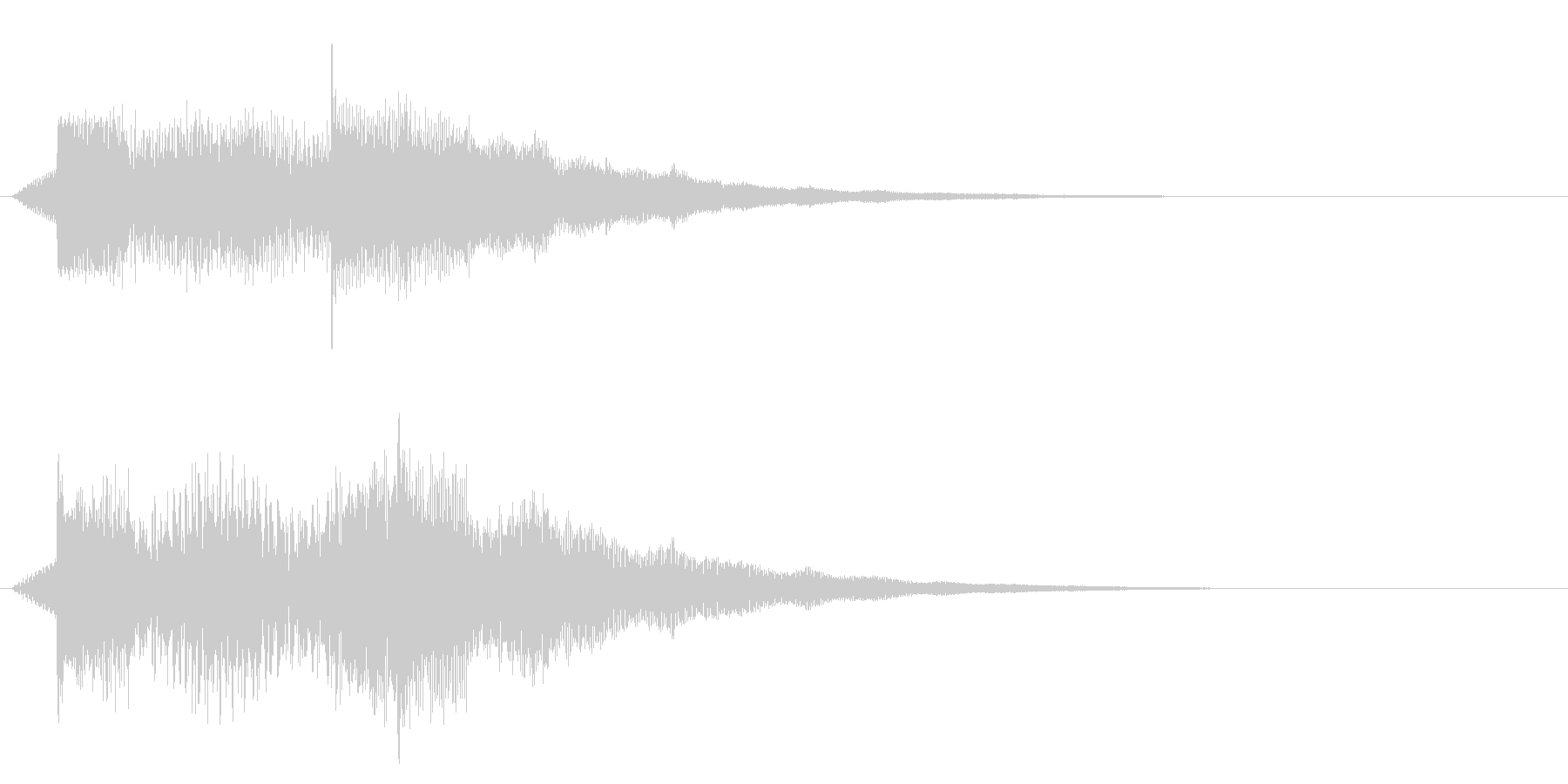ズンチャンチャンシャララ(テクノロジー)の未再生の波形