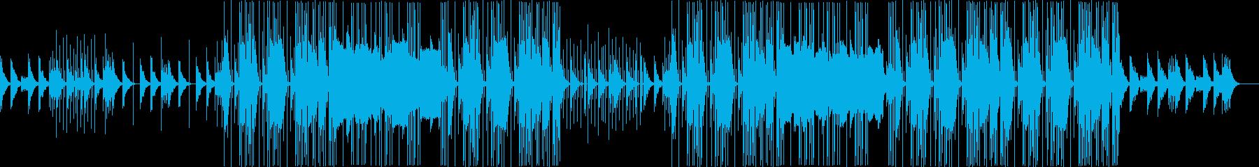 ポップな洋楽R&Bビートの再生済みの波形