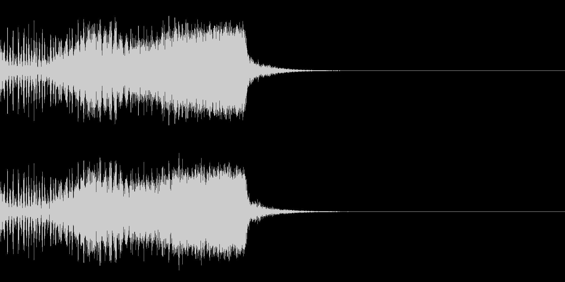 スパーク音-12の未再生の波形