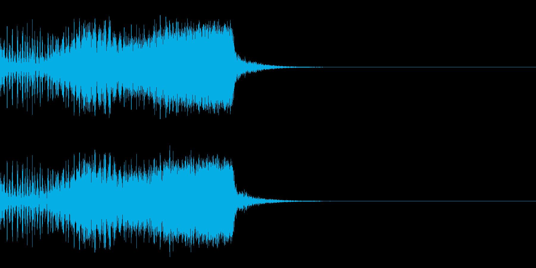 スパーク音-12の再生済みの波形