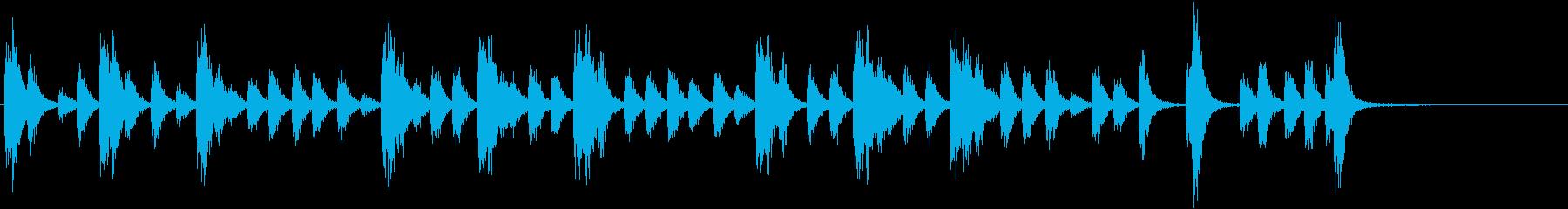 スネアドラム:ミリタリーアクセント...の再生済みの波形