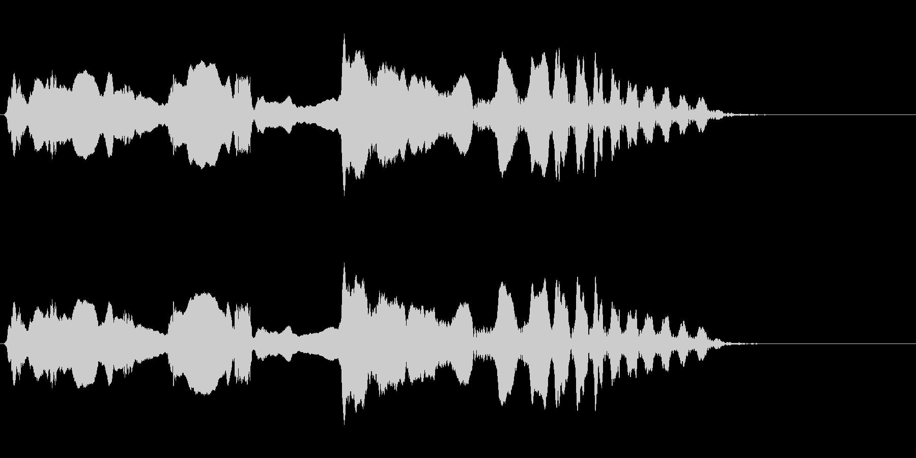 尺八 生演奏 古典風 残響音有 10の未再生の波形