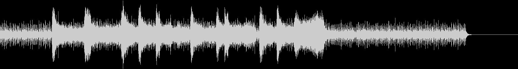 ドラムとストリングスの戦闘シーンの曲の未再生の波形