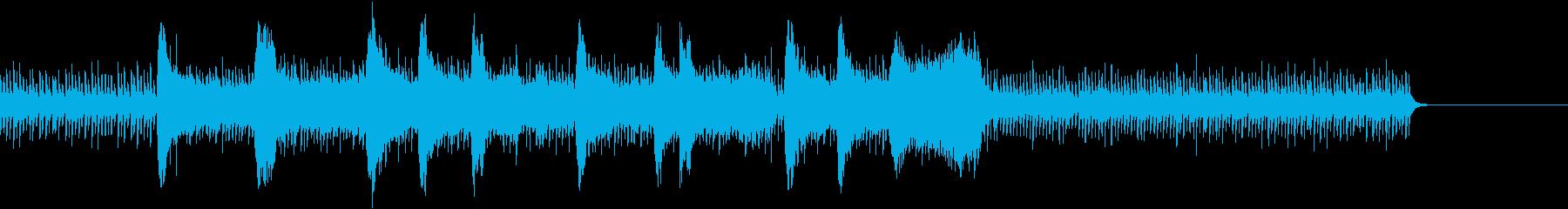 ドラムとストリングスの戦闘シーンの曲の再生済みの波形