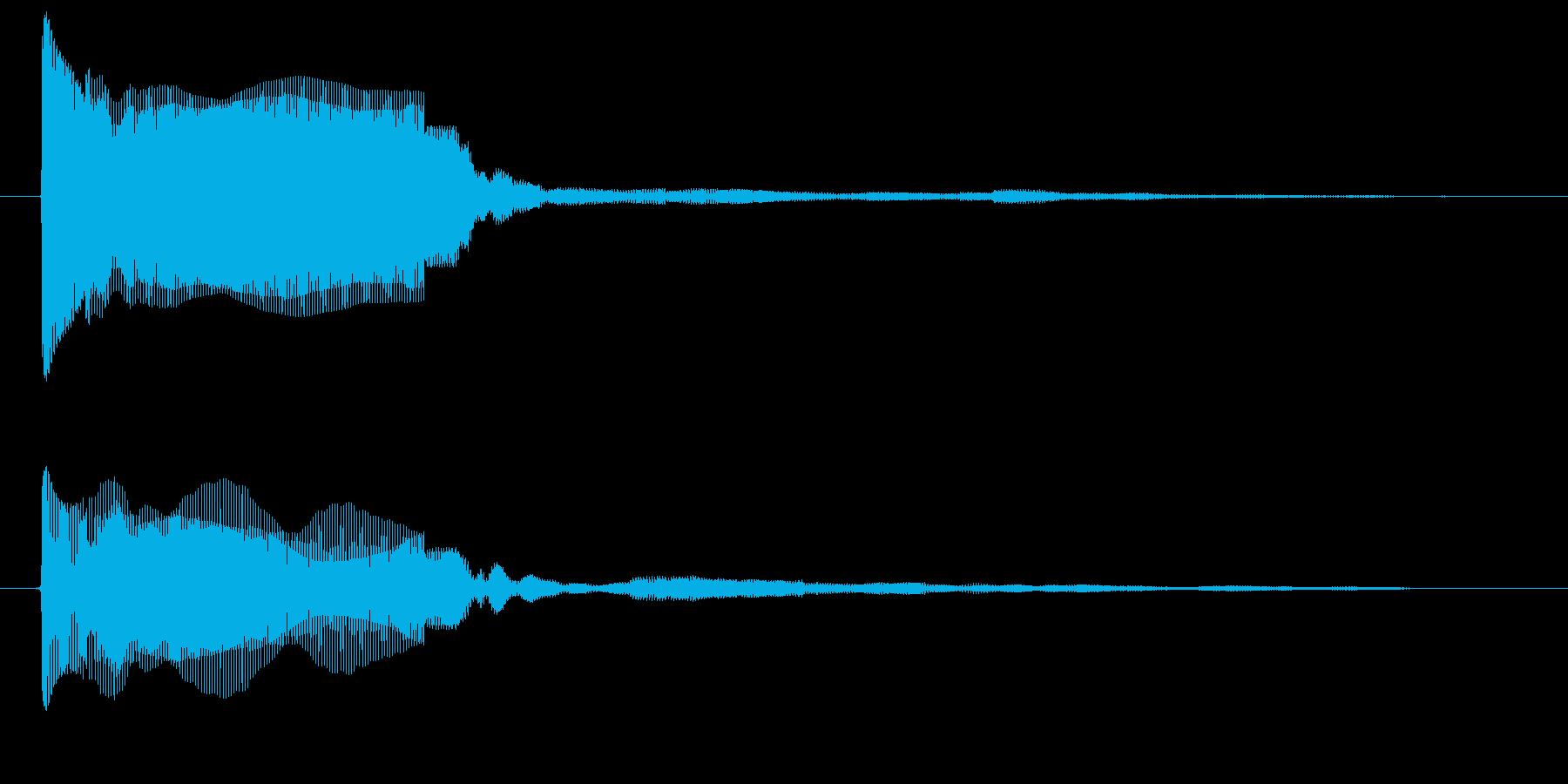カウントダウン 単発 プー ぷー クールの再生済みの波形