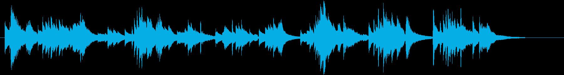 幻想的・神秘的な癒し系ピアノとアコギの再生済みの波形