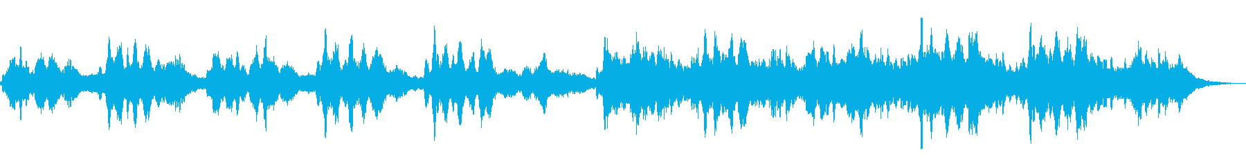 幻想的な雰囲気の曲の再生済みの波形