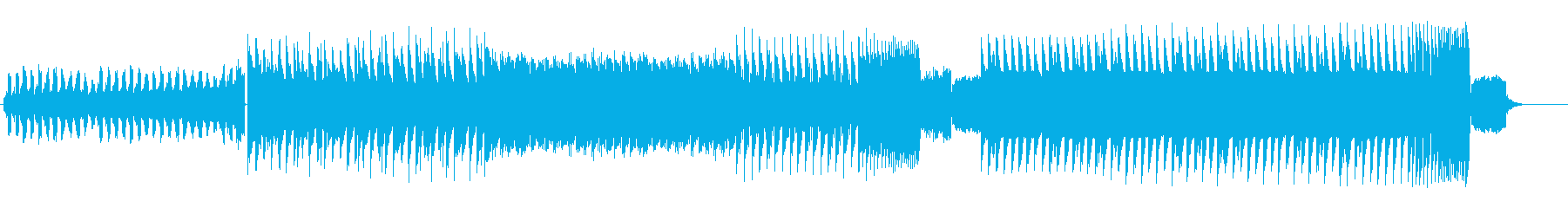 やる気が出るEDMの再生済みの波形