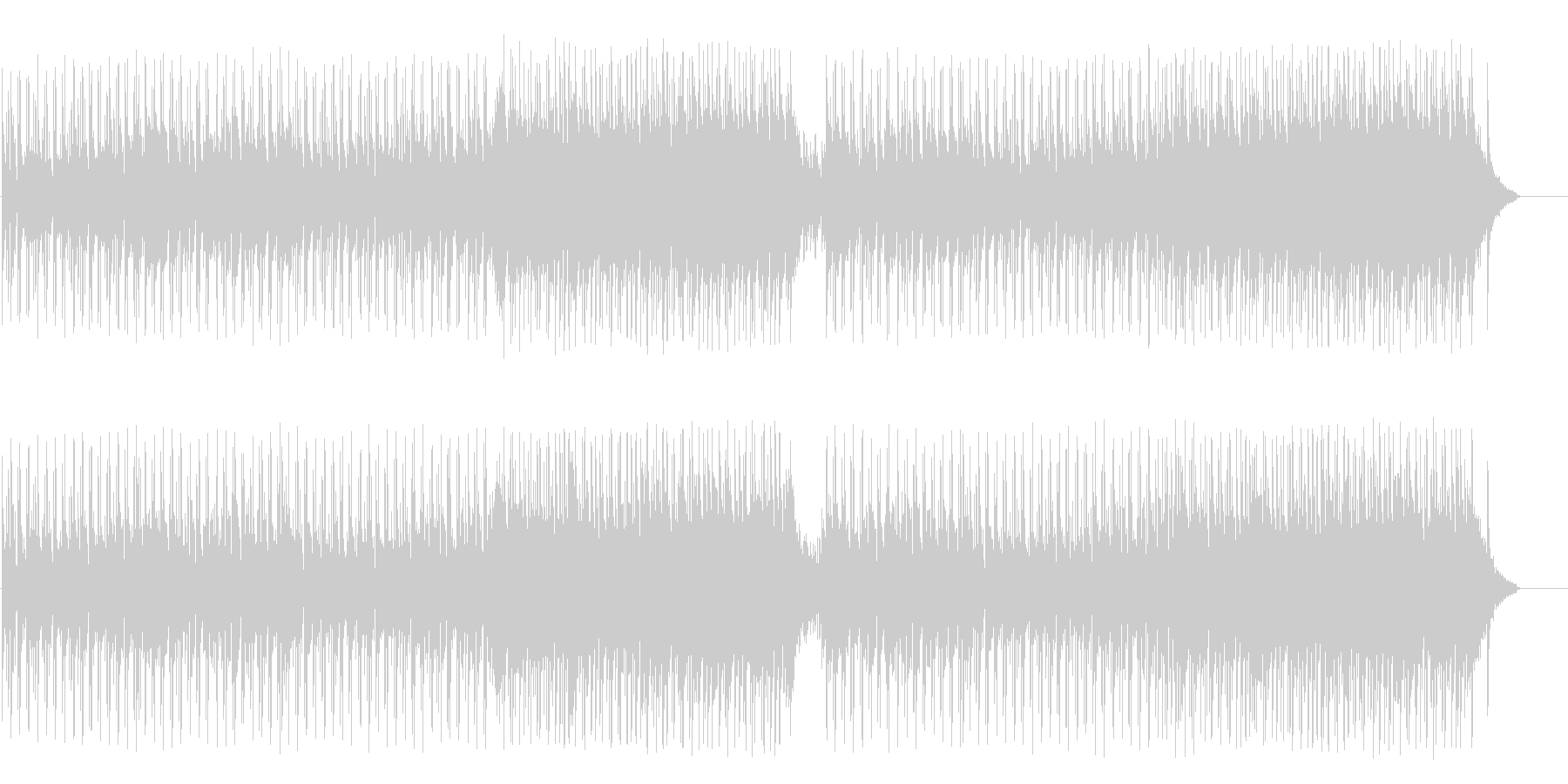 ティータイムを楽しむボサノバポップの未再生の波形