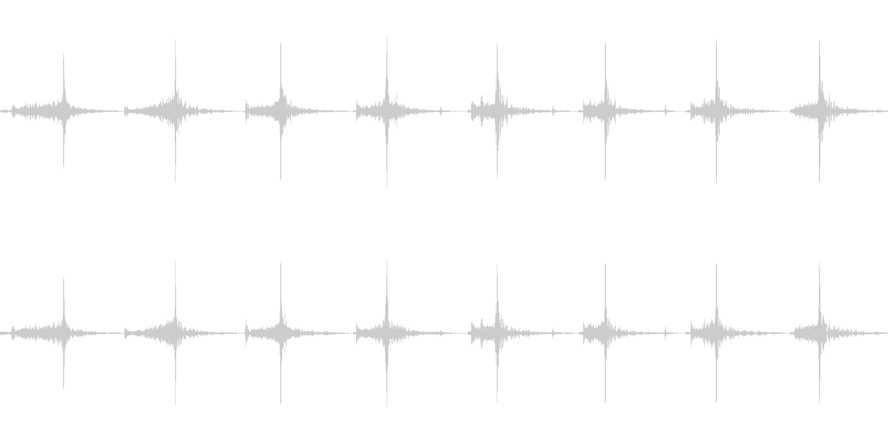 包丁でニンジンを切る(速め)の未再生の波形