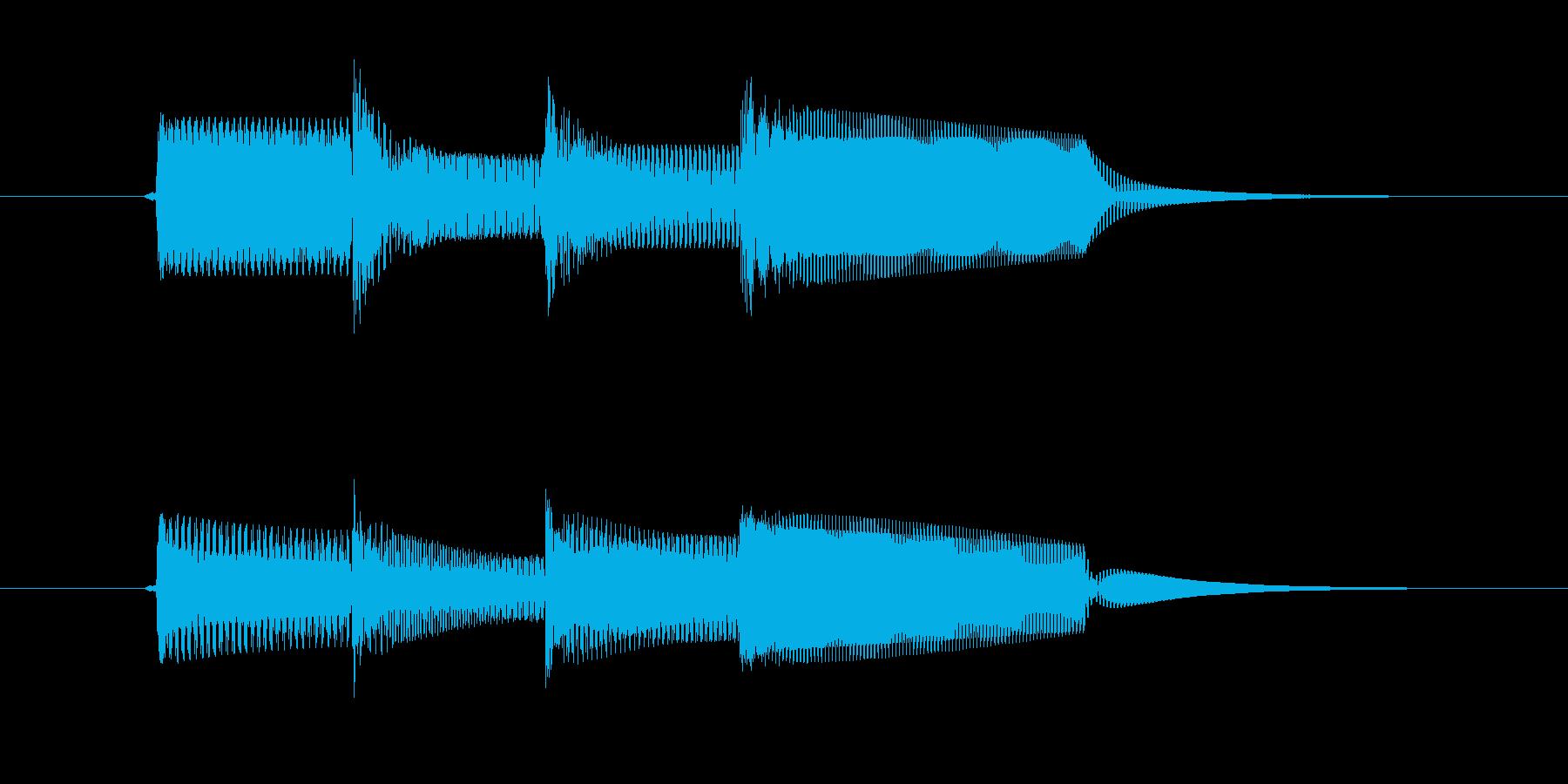 「たらららん」決定音などにつかえる効果…の再生済みの波形