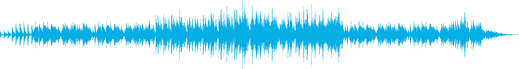 ピアノソロのポップなバラードの再生済みの波形