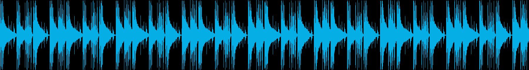 エレクトリックピアノが響く静かなループ曲の再生済みの波形