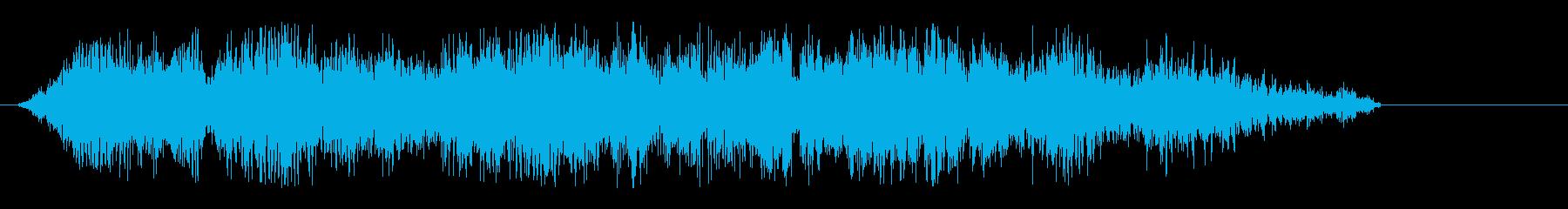 シャキーン(かっこいい剣の音)の再生済みの波形