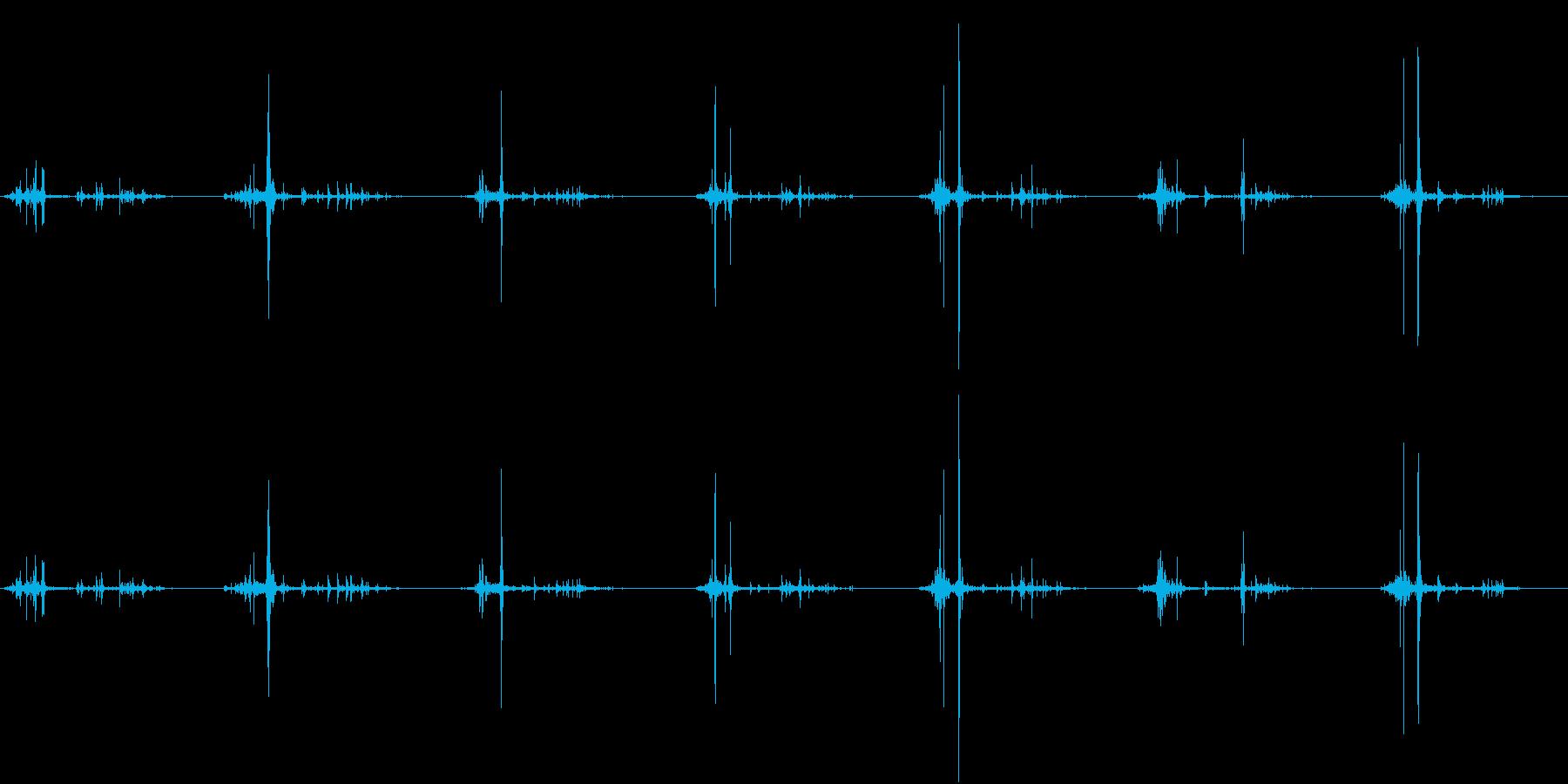 【生録音】何かを洗う音 3 石鹸 泡の再生済みの波形