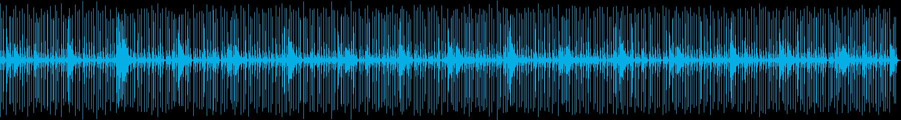 喋り動画用_軽快なドラムソロBGMの再生済みの波形