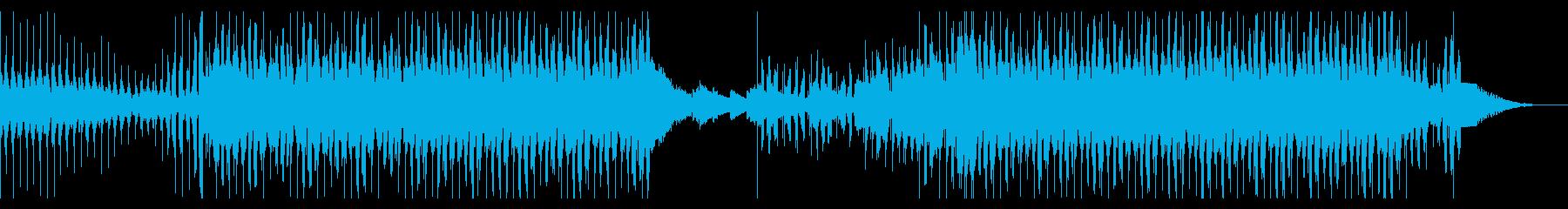 ノリの良いEDM風ダンスミュージックの再生済みの波形