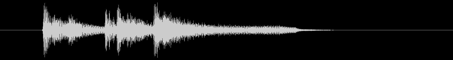おしゃれでジャジーな打楽器ピアノサウンドの未再生の波形