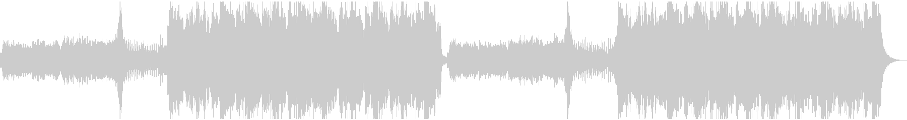 ダークファンタジー系のBGMの未再生の波形