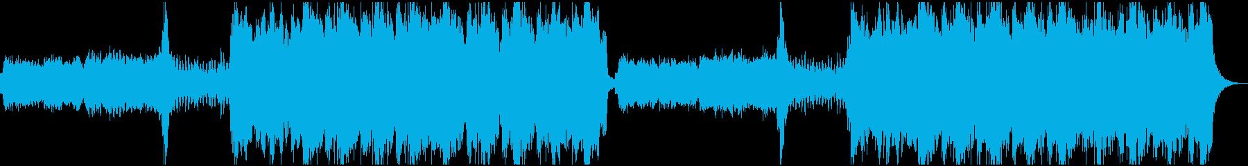 ダークファンタジー系のBGMの再生済みの波形