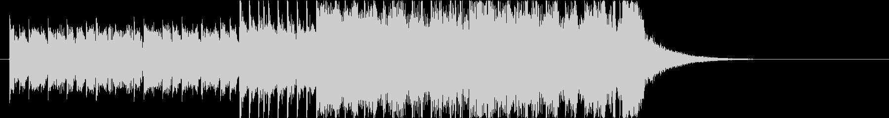 メタル系なアイキャッチBGMの未再生の波形