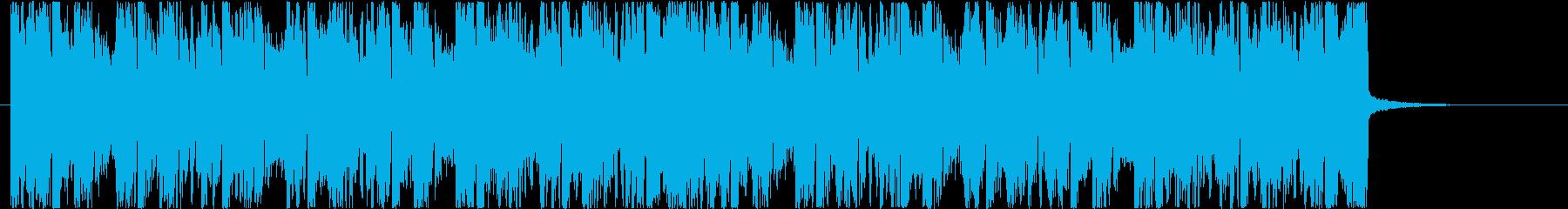 ワイルドな4つ打ちのCM広告向けEDMの再生済みの波形