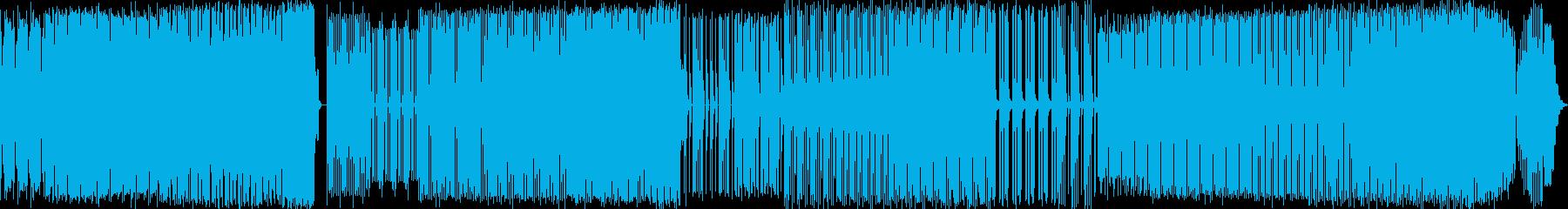軽快なパーカッションの掛け合いの再生済みの波形