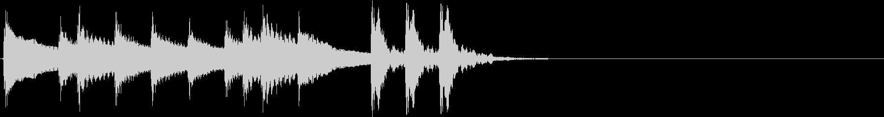 2,和風サウンドロゴ (3秒ロゴ)の未再生の波形