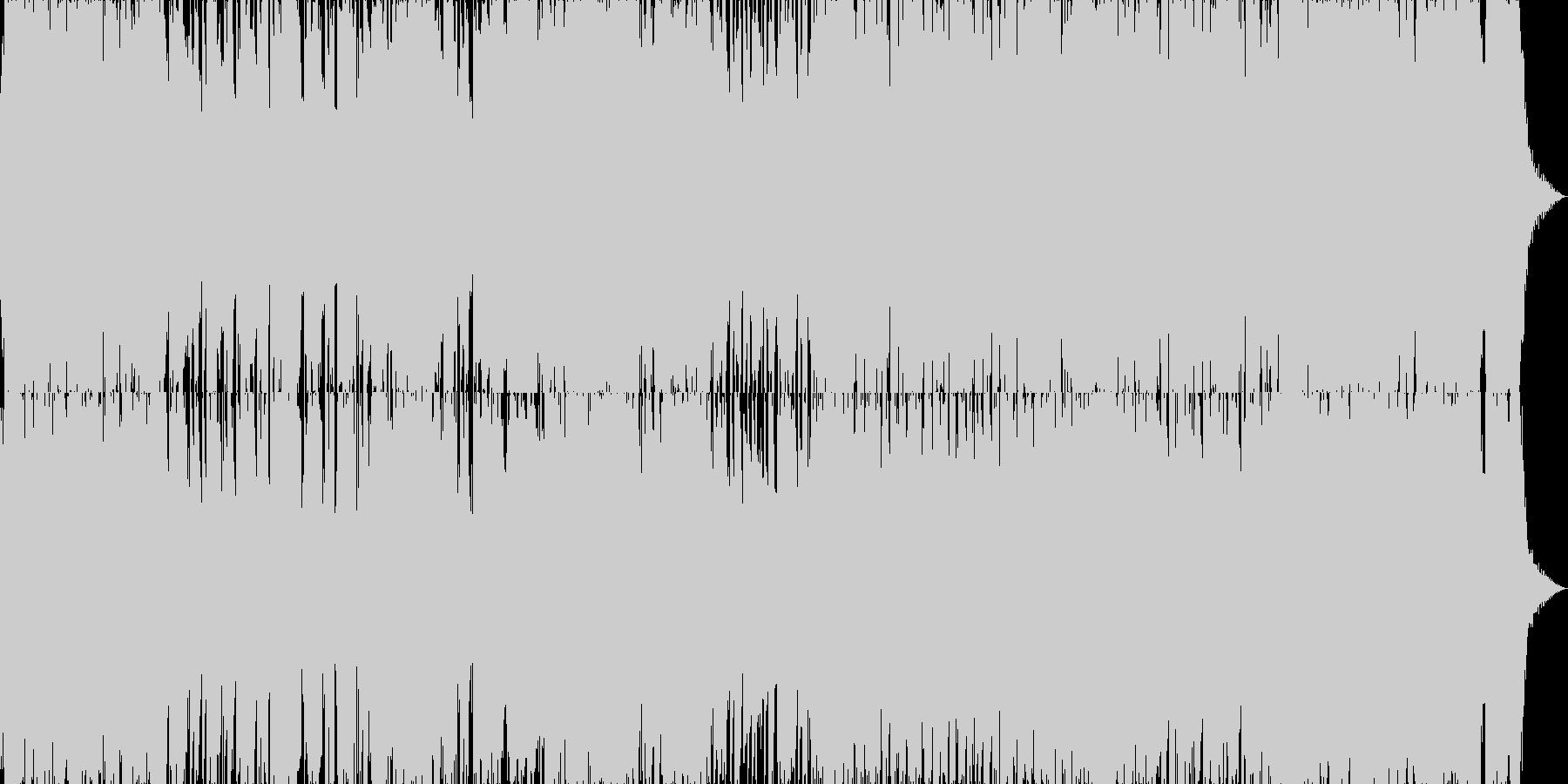 ファンキーでご機嫌なブルージーポップの未再生の波形