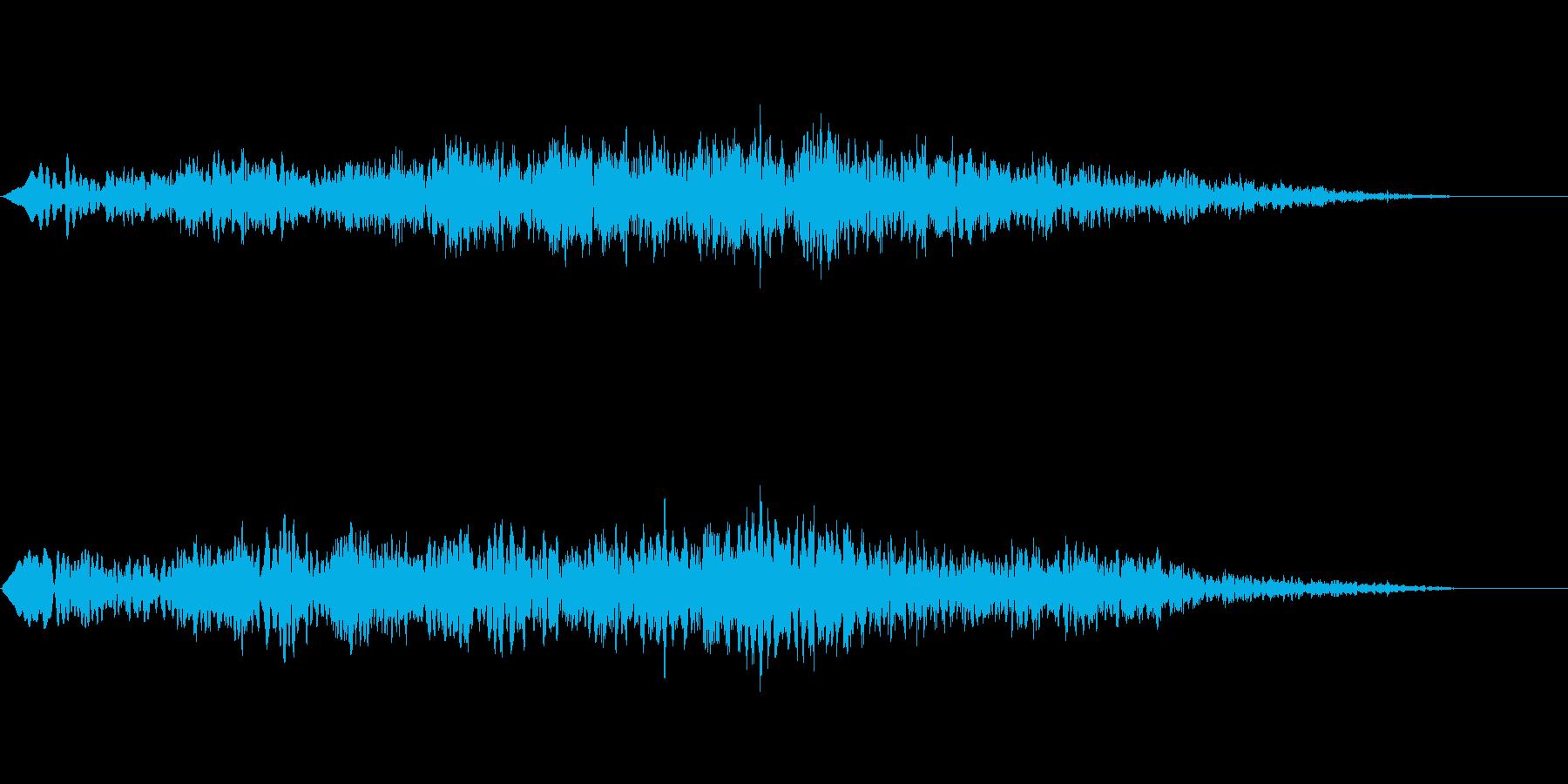ヒュルル~ 浮遊するお化け 下降の再生済みの波形