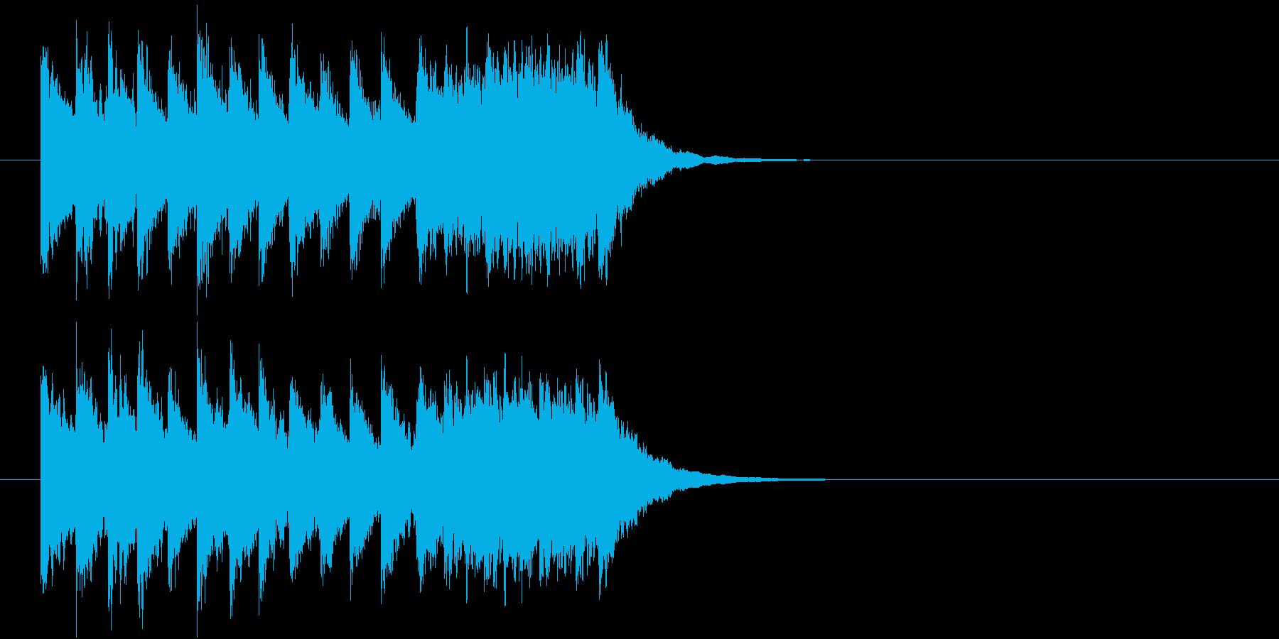 場面転換、ぐるぐるぐるの再生済みの波形