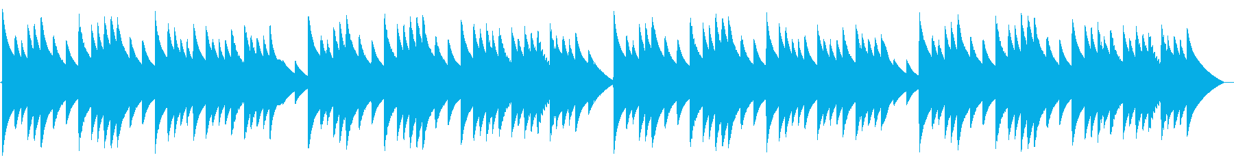 電話 保留音01-2(メヌエット)の再生済みの波形