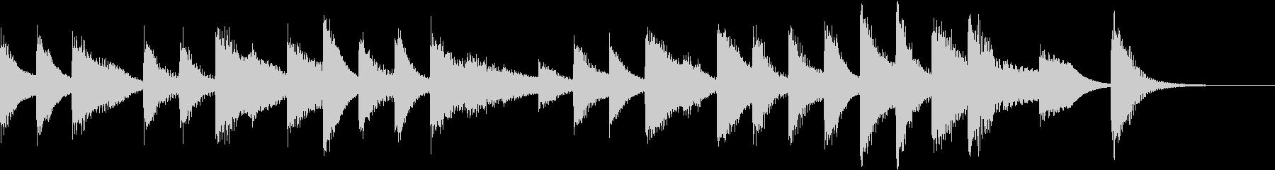 ジングルベルモチーフのピアノジングルHの未再生の波形