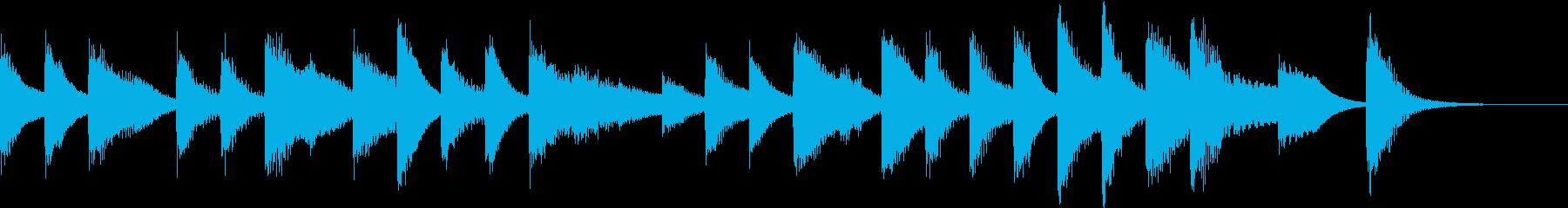 ジングルベルモチーフのピアノジングルHの再生済みの波形