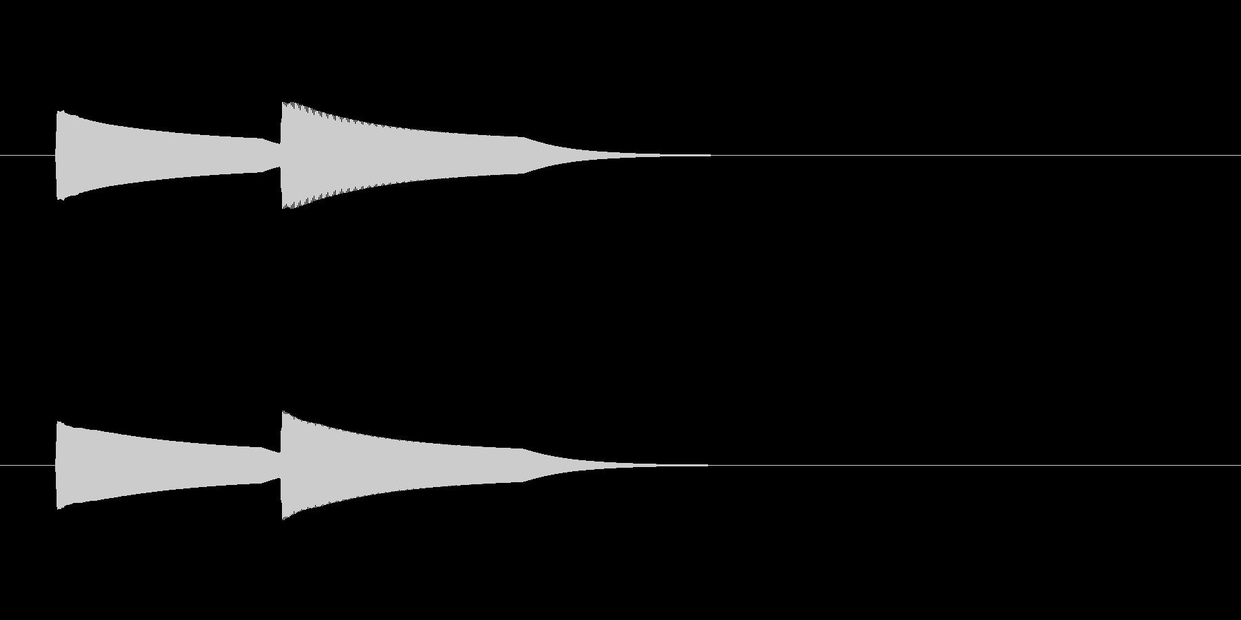 ぴンポーン(インターホン)1回 半音高いの未再生の波形