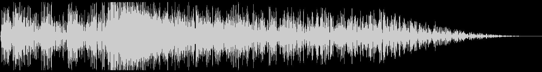 ドンドンバシューン(爆弾の音)の未再生の波形