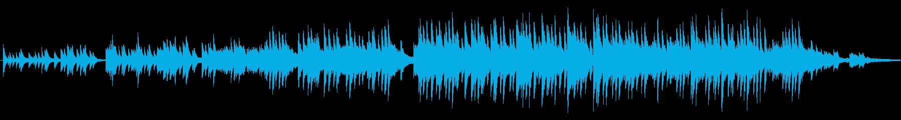 やさしくて感動的なピアノメロディーの再生済みの波形