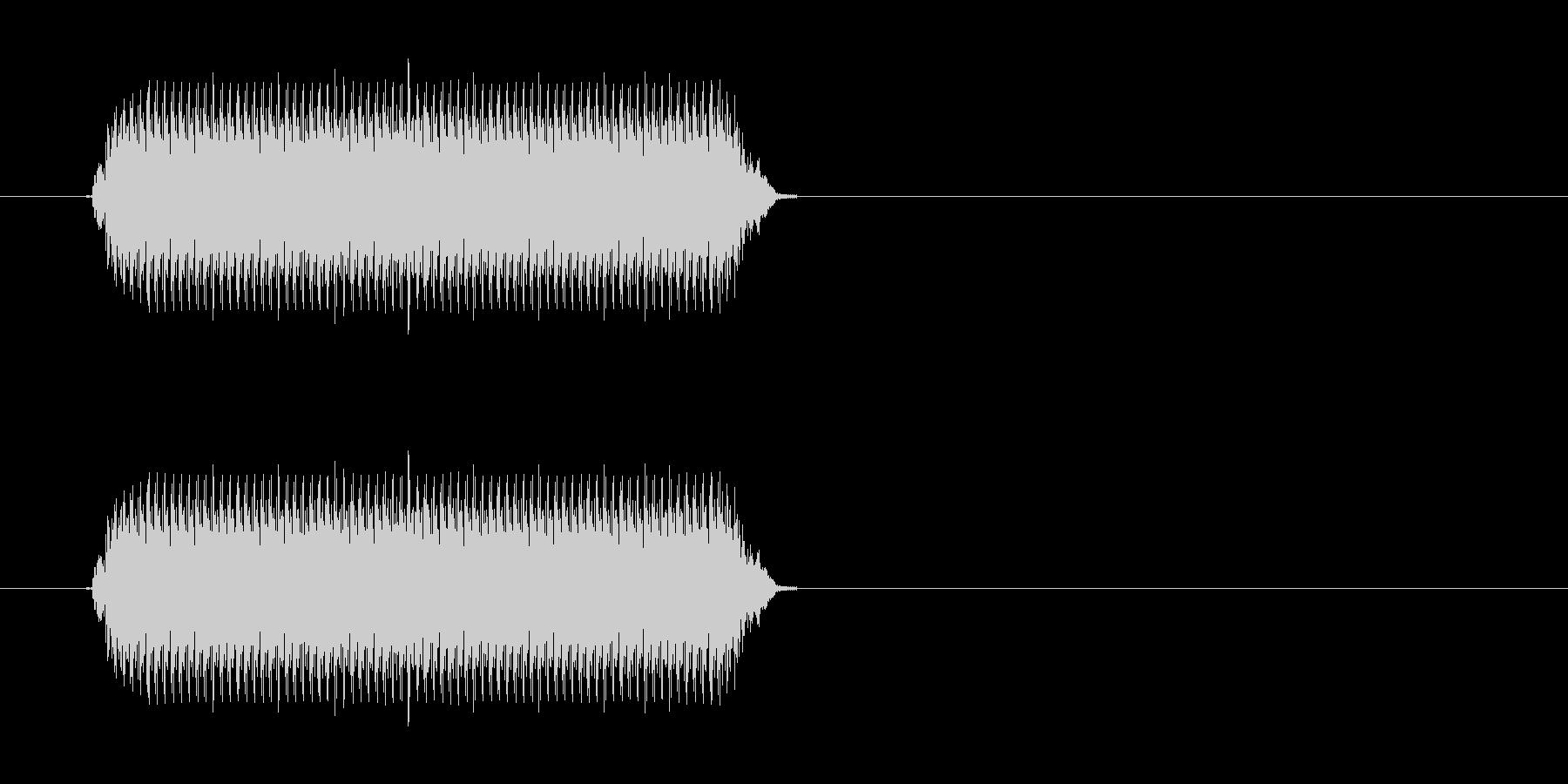 警報機の音の未再生の波形