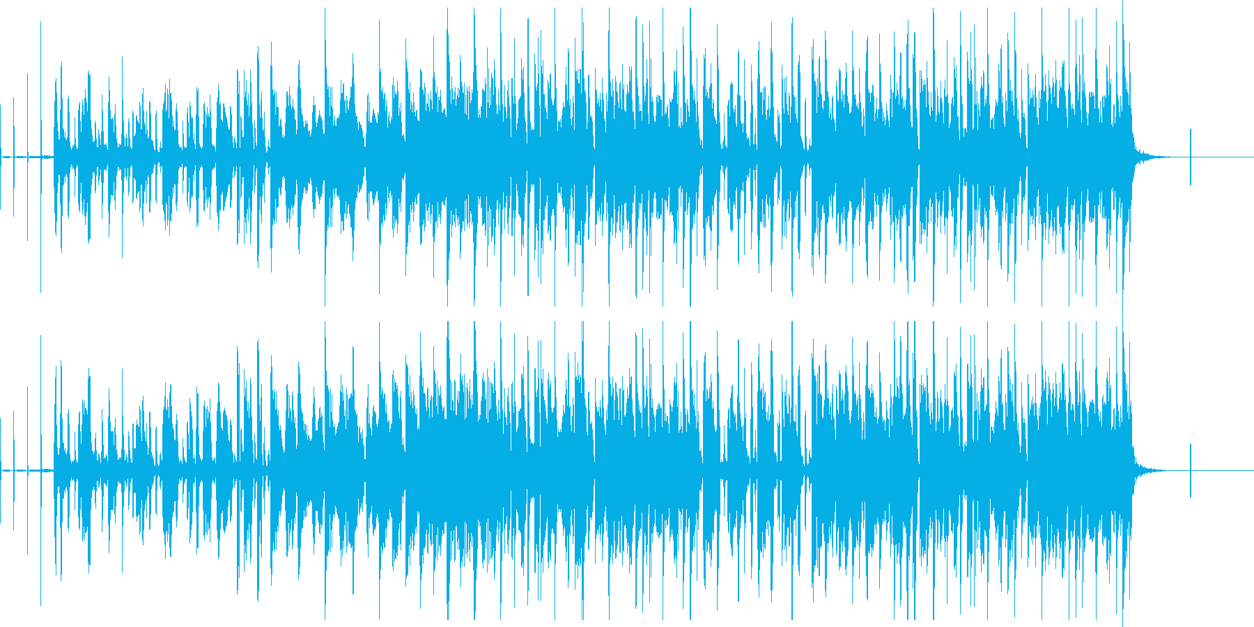 「ヨーデリング」効果のある高速ブレ...の再生済みの波形