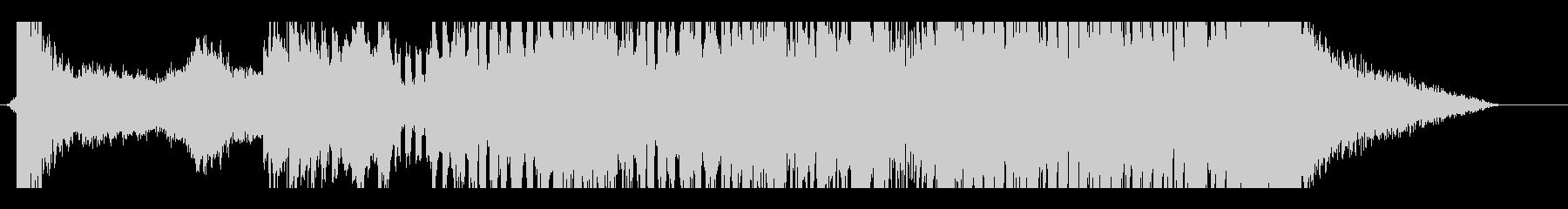ノリのあるインパクトを与えるオープニングの未再生の波形