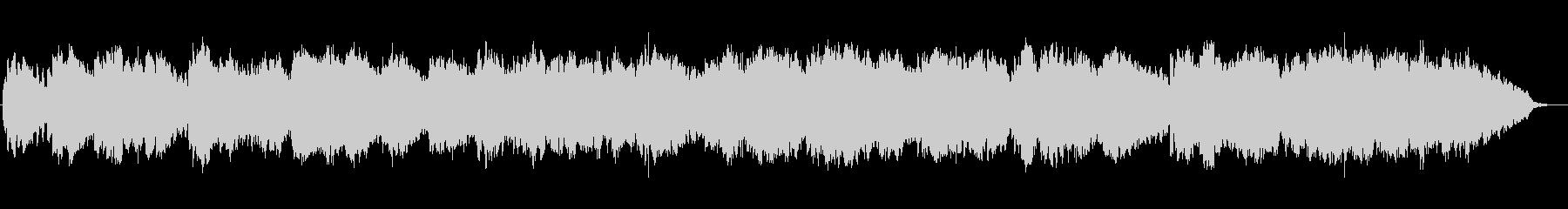 穏やかベルのアンビエントBGMの未再生の波形