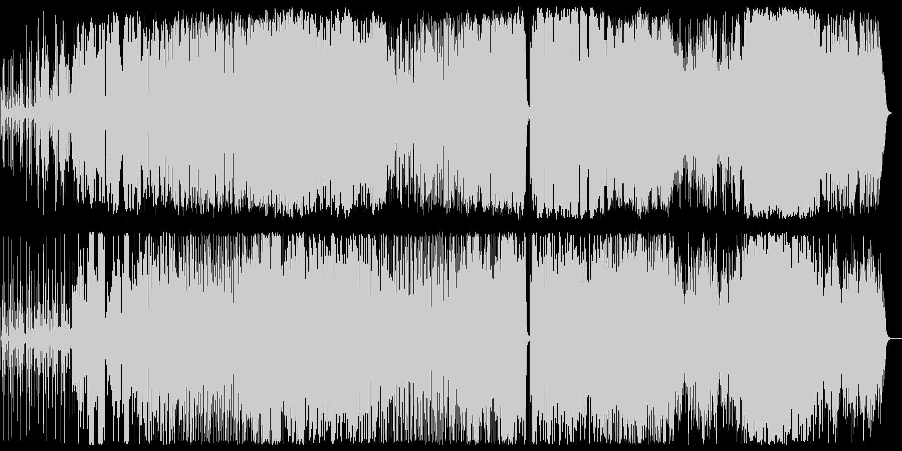 バイオリンのジャズファンクサウンドの未再生の波形