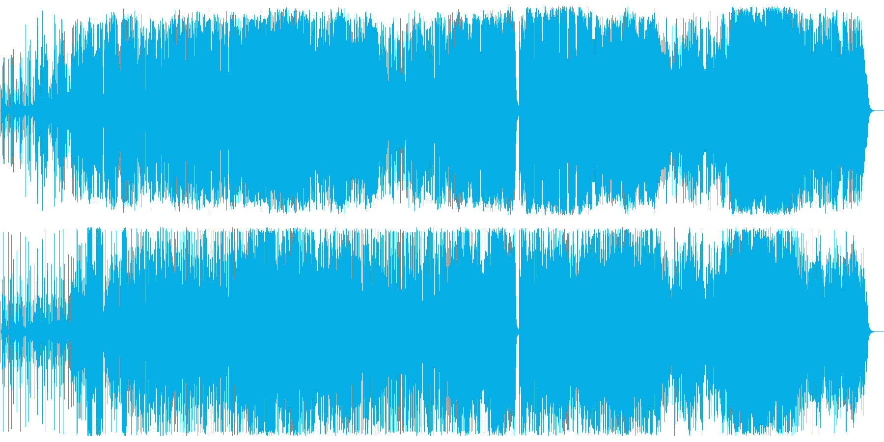 バイオリンのジャズファンクサウンドの再生済みの波形