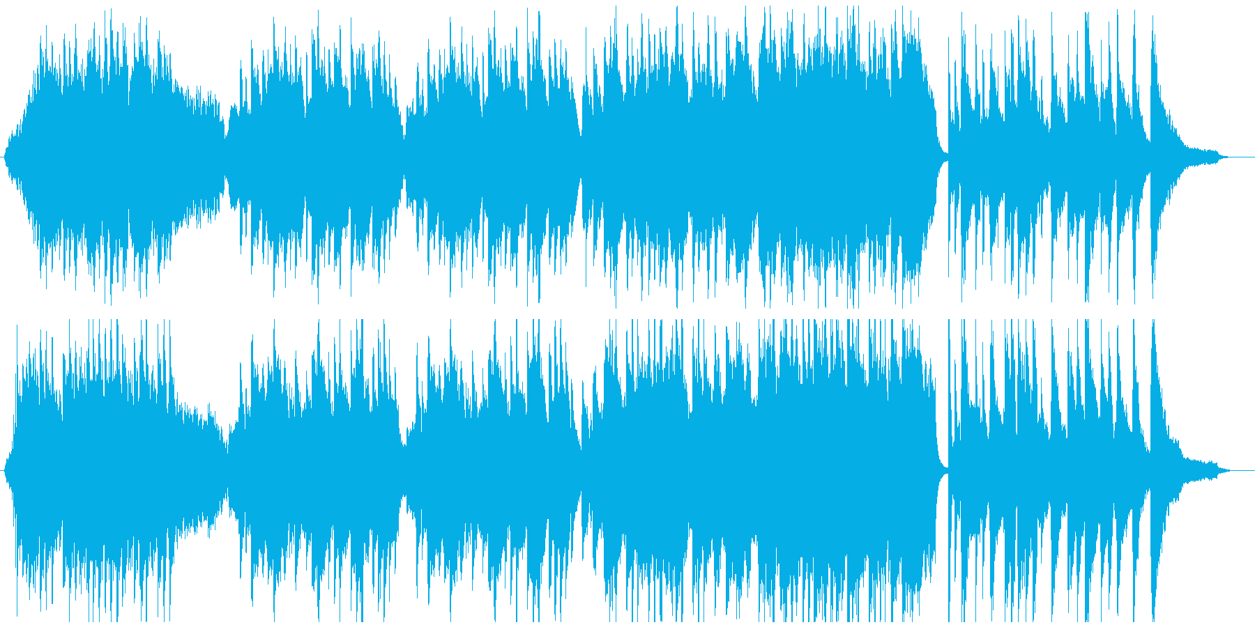 雄大な和風楽曲の再生済みの波形