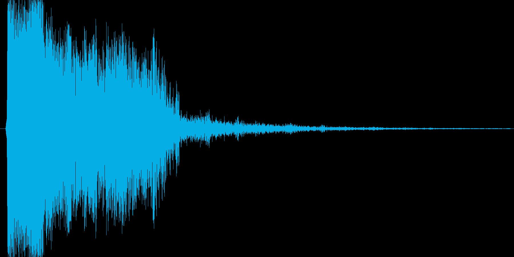 ピシューという派手な音の再生済みの波形